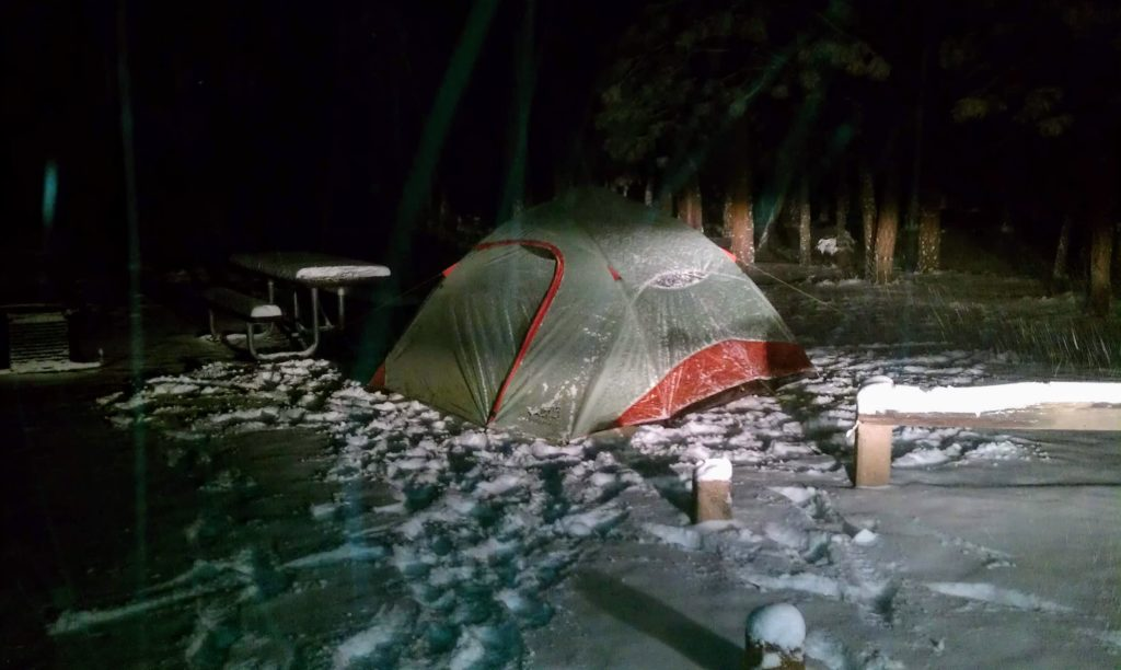 ALPS Mountaineering Family Tent in the snow Nov 2011