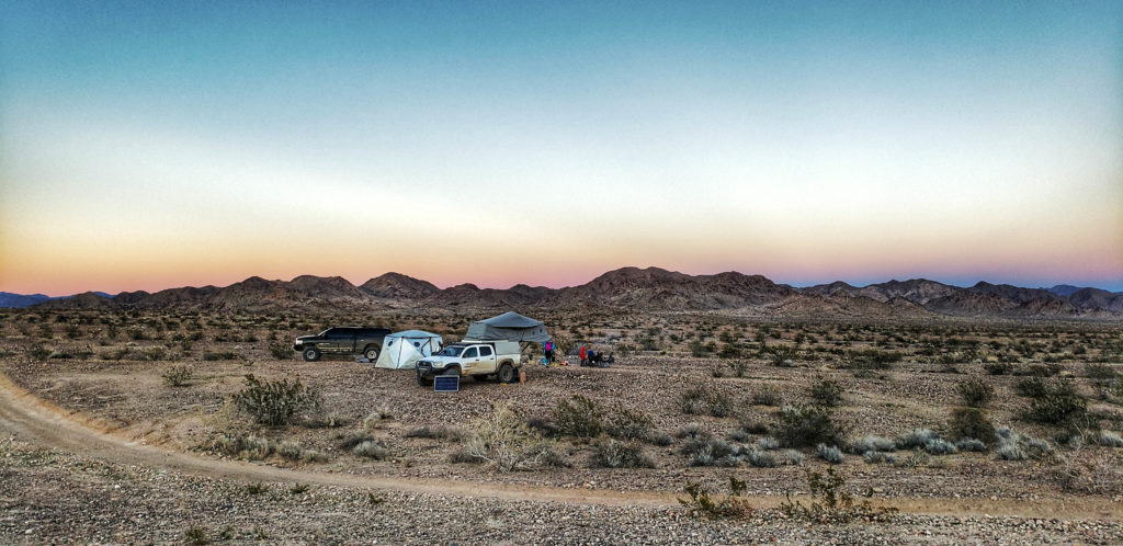 Shift Pod and AT Habitat Family Tents in the California Desert